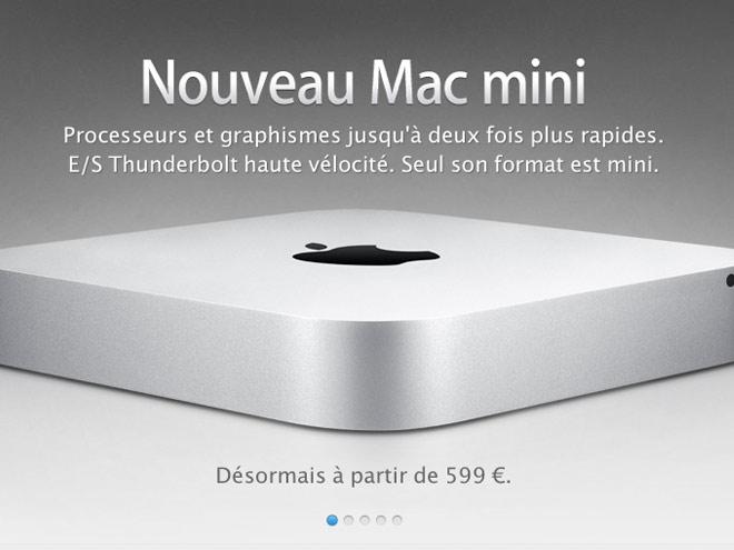 Mac Mini 2011 : plus rapide, livré avec Mac OS X Lion