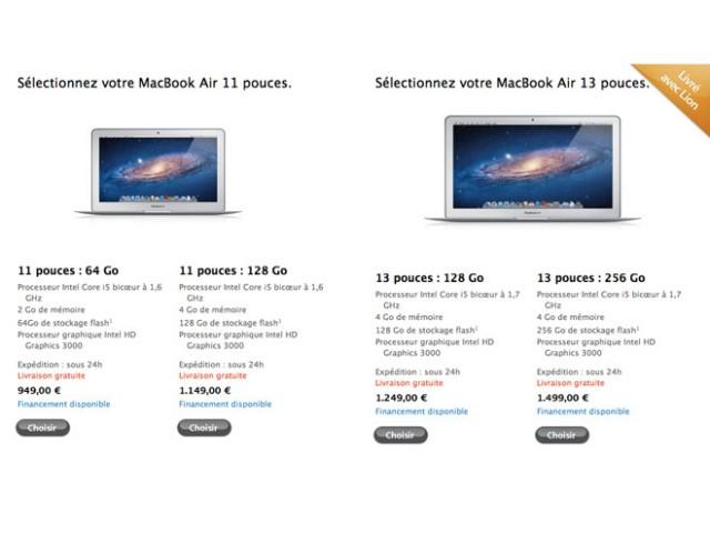 MacBook Air 2011 : plus rapide, livré avec Mac OS X Lion