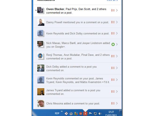 Un notificateur Google+ pour Windows