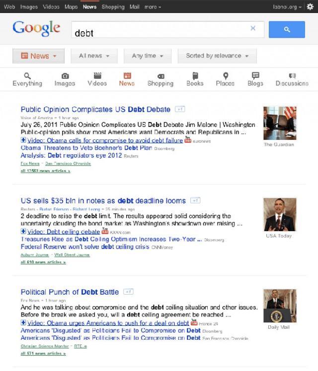 Google : une nouvelle interface pour les tablettes tactiles !