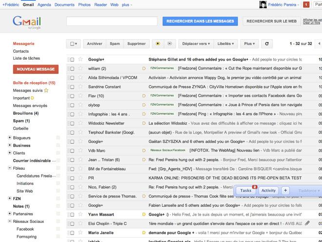 Un thème Google+ pour Gmail !