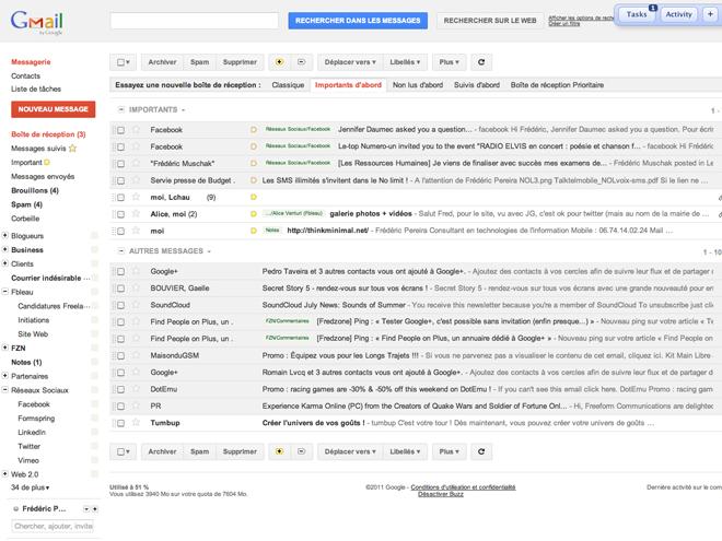 Gmail : de nouveaux filtres font leur apparition