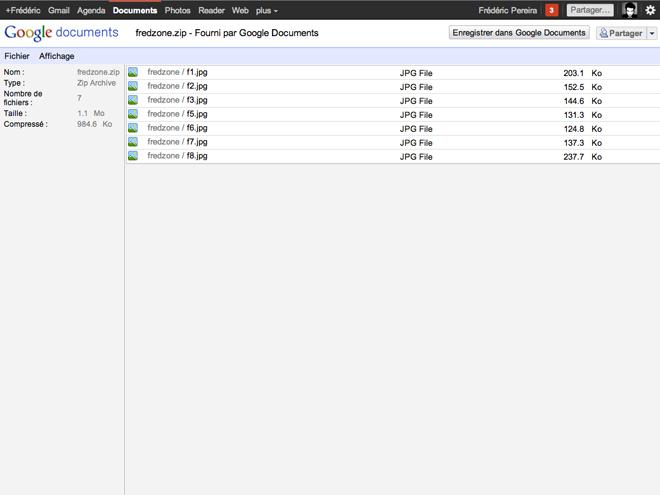 Gmail et Google Docs supportent désormais les formats ZIP et RAR