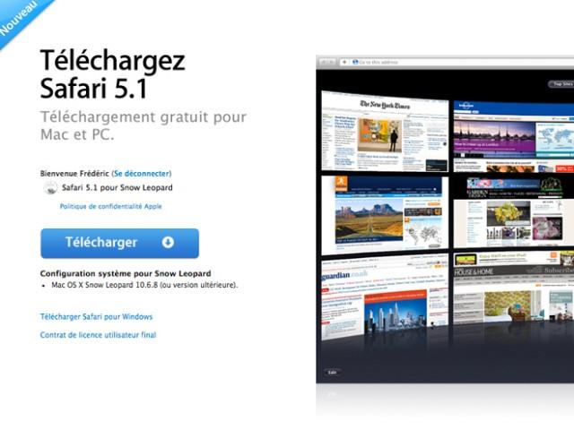 Safari 5.1 est dans les bacs !
