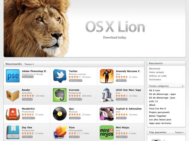 Mac OS X Lion est disponible sur le Mac App Store !