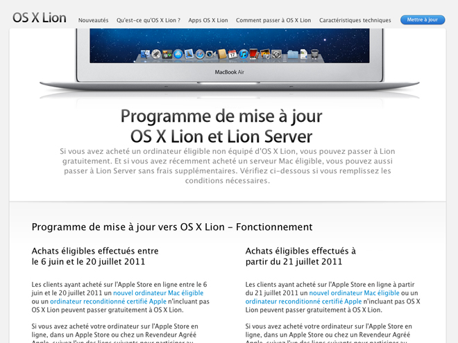 Télécharger gratuitement Mac OS X Lion