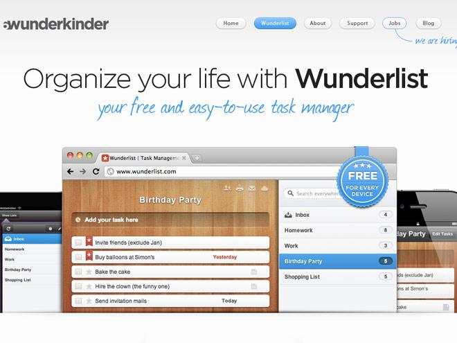 Wunderlist désormais disponible en français !