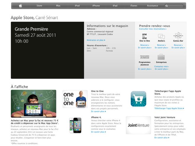 Apple Store Carré Sénart : ouverture le 27 août à 10h00