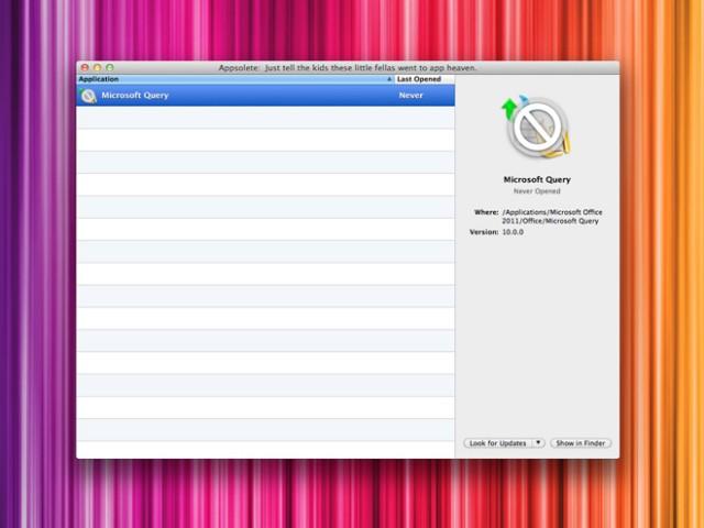 Appsolete, pour savoir si vos applications sont compatibles avec Mac OS X Lion