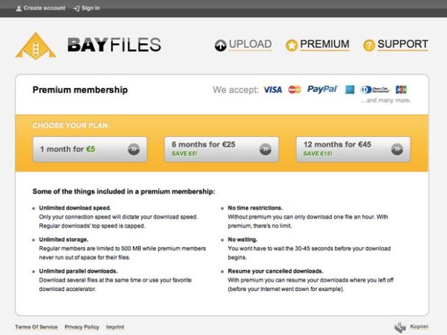 Bayfiles, le megaupload des fondateurs de The Pirate Bay
