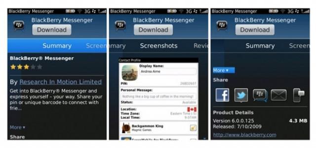 BlackBerry App World 3.0 : une nouvelle interface