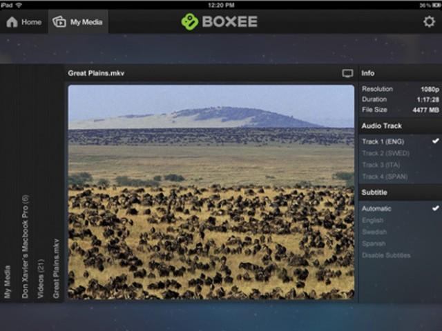 Boxee Box : une nouvelle application iPad !