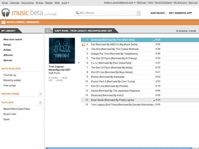 Un client Google Music pour Windows