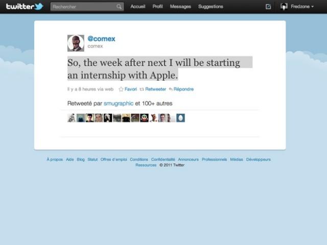 Comex rejoint Apple !