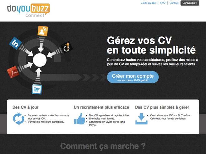 DoYouBuzz Connect, la gestion de CV facile et gratuite pour les PME