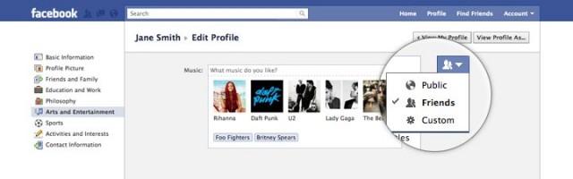 Facebook : nouvelle gestion du profil utilisateur