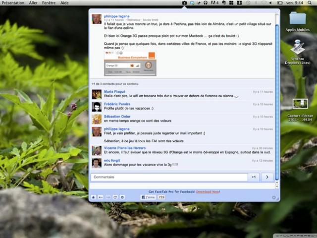 Intégrer Google+ à la barre de menu de Mac OS