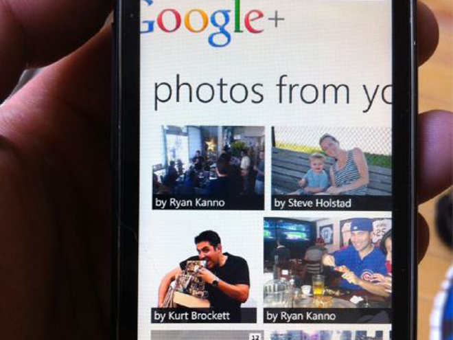 Une photo de Google+ pour Windows Phone 7