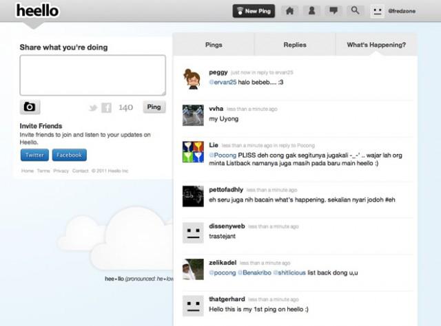 Heello, quand Twitpic marche sur les platebandes de Twitter