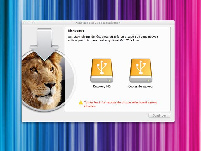 Lion Recovery Disk Assistant, un outil de réparation gratuit pour Mac OS X Lion