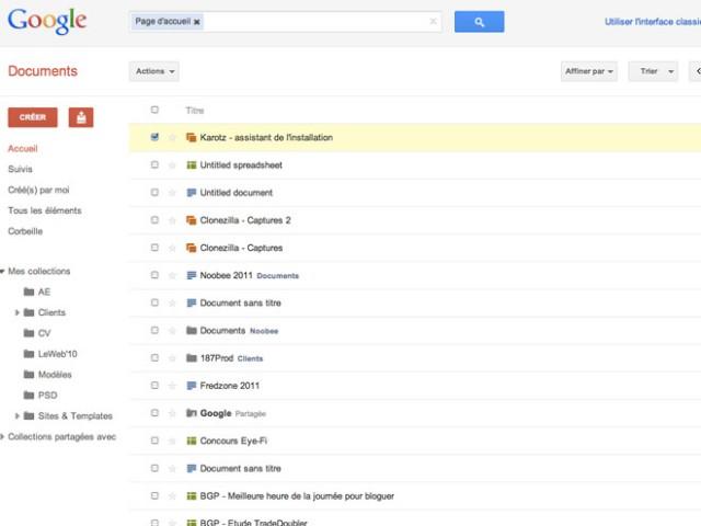 Une nouvelle interface pour Google Docs