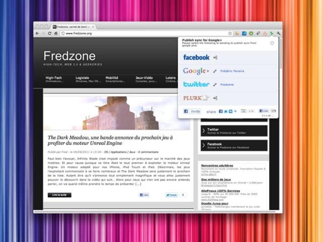 Partager un message sur Twitter, Facebook et Google+ en un clic