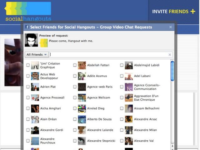 Social Hangouts : le chat vidéo à plusieurs sur Facebook