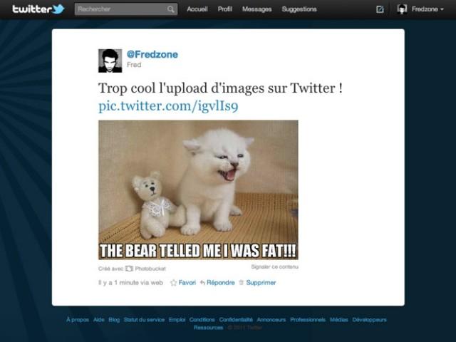 Twitter permet désormais d'envoyer des photos !