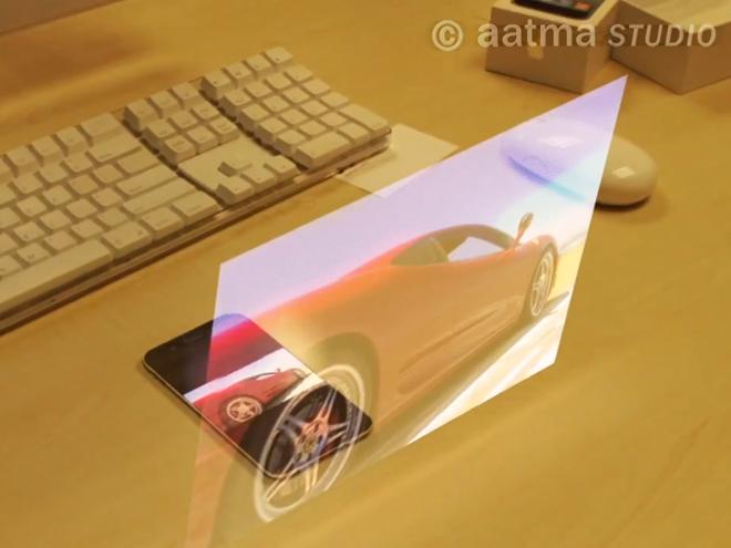 Vidéo : un iPhone 5 avec clavier et écran holographique