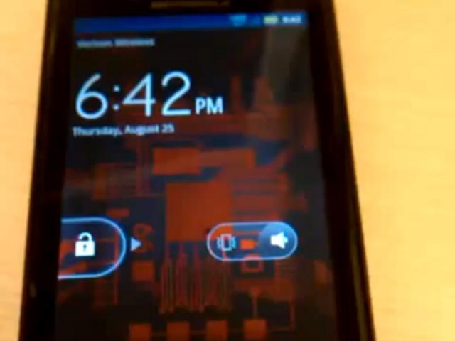 Une vidéo du Motorola Droid Bionic