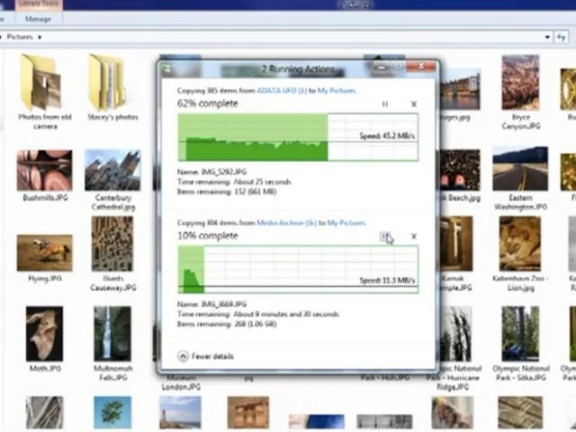 """Windows 8 : le nouveau bouton """"démarrer"""" et le système de copie de fichiers en vidéo !"""