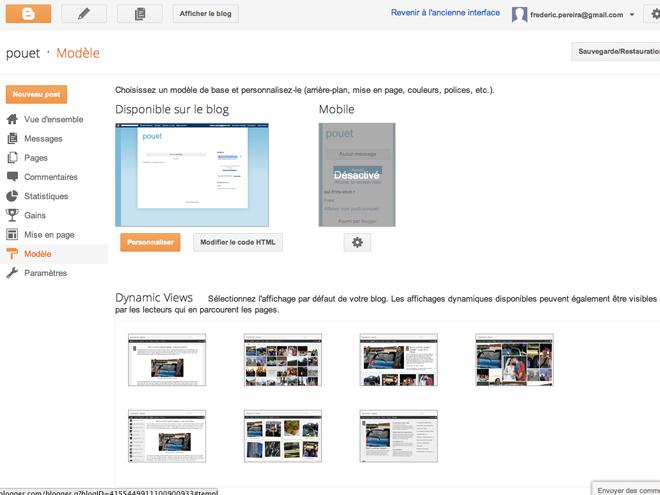 """Blogger : arrivée des """"affichages dynamiques"""""""