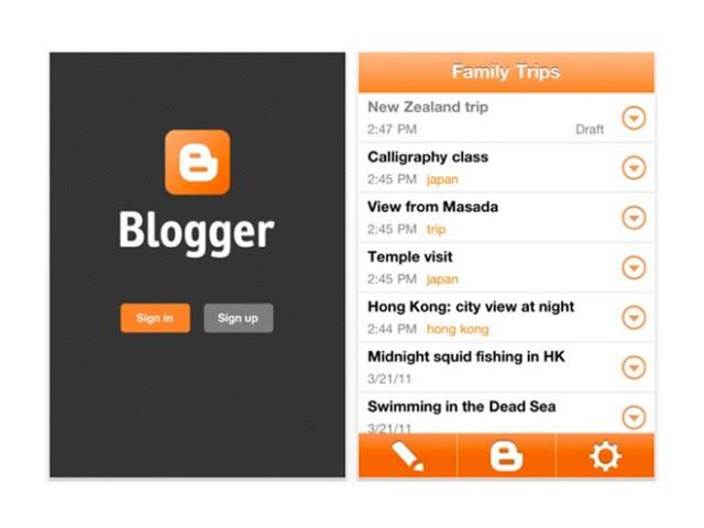 Blogger arrive sur iPhone