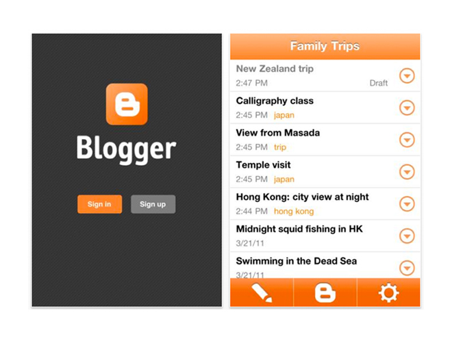 Blogger arrive sur iPhone