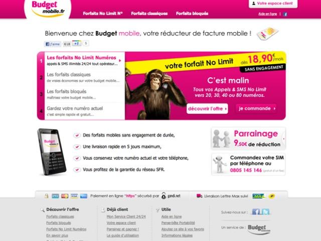 Budget Mobile : le forfait illimité à partir de 18,90 € par mois