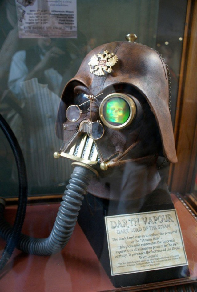 Le casque de Dark Vador version Steampunk