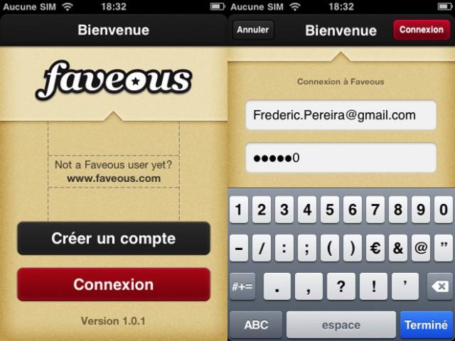 Faveous débarque sur iOS !