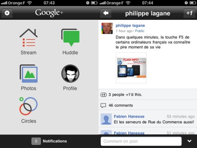 Google+ sur iOS permet maintenant de partager du contenu !