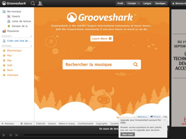 Grooveshark Desktop, un client pour Mac OS X