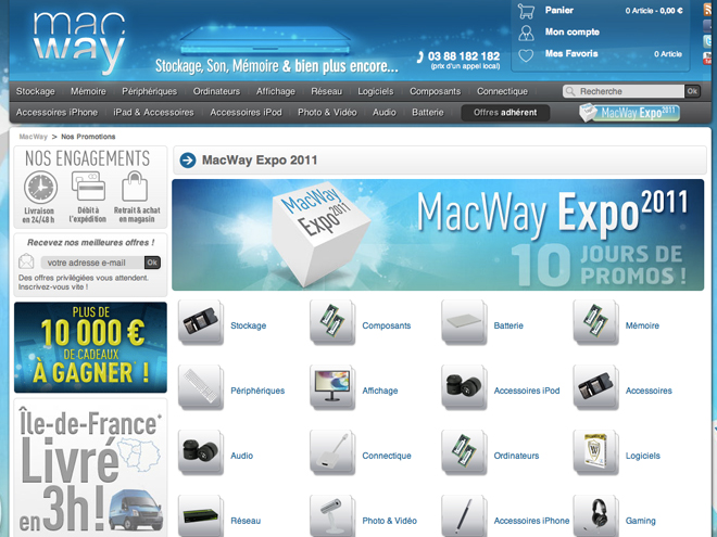 Macway Expo 2011 : 10 jours de promotions chez Macway