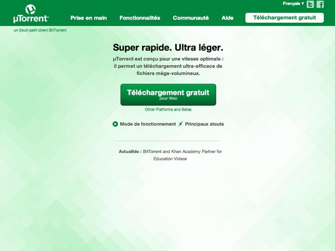 uTorrent remplacé par un malware !