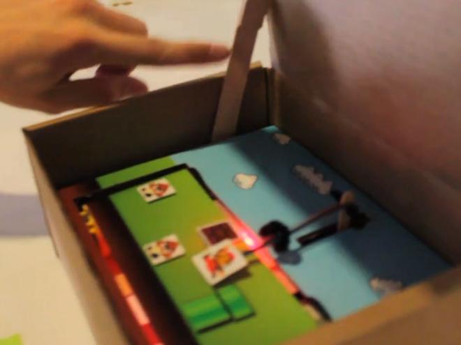 Jouer à Mario... dans un carton ?!
