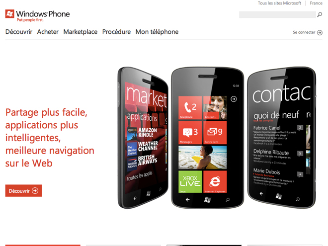 Le Marketplace de Windows Phone 7 déboule sur le web