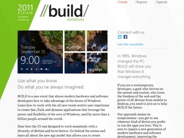 Microsoft BUILD : présentation de Windows 8 en vidéo et en direct sur le web !