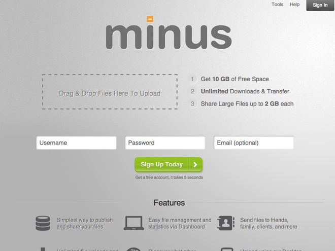 Minus, une alternative à Dropbox