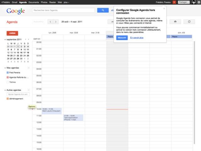 Gmail, Google Agenda et Google Docs sont disponibles hors connexion !