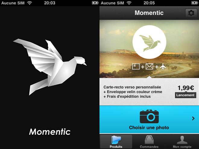 Momentic, crée et envoie tes cartes postales avec ton iPhone