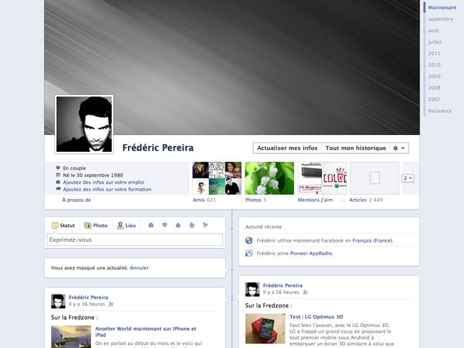 Facebook : nouveau profil, nouveau graph social et musique pour tout le monde !