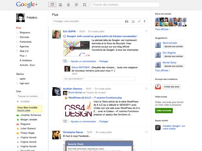 Google+ : 9 nouvelles fonctionnalités et ouverture de la beta !