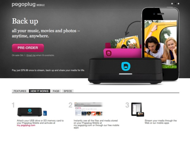 Pogoplug Mobile, un NAS qui marche avec ton mobile